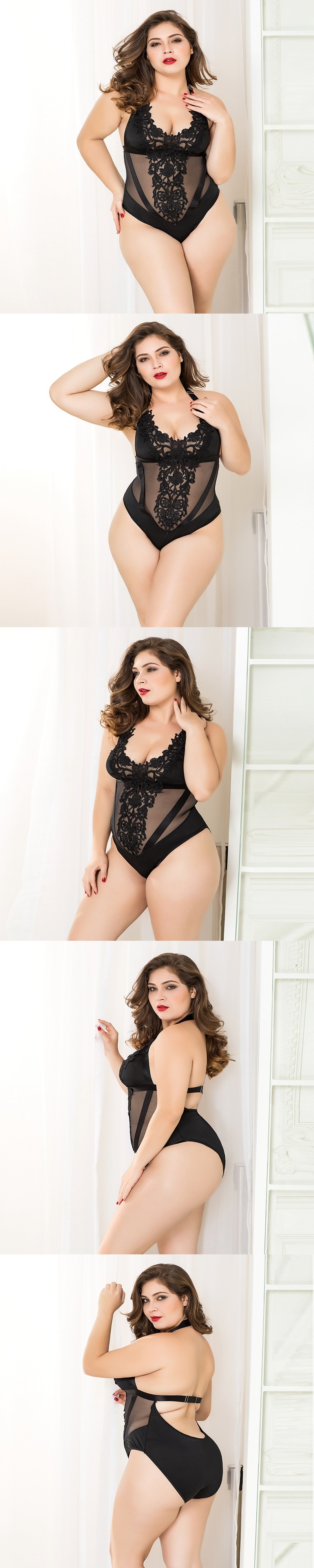 adult loving|Sexy Black Lace Bodysuit Plus Size