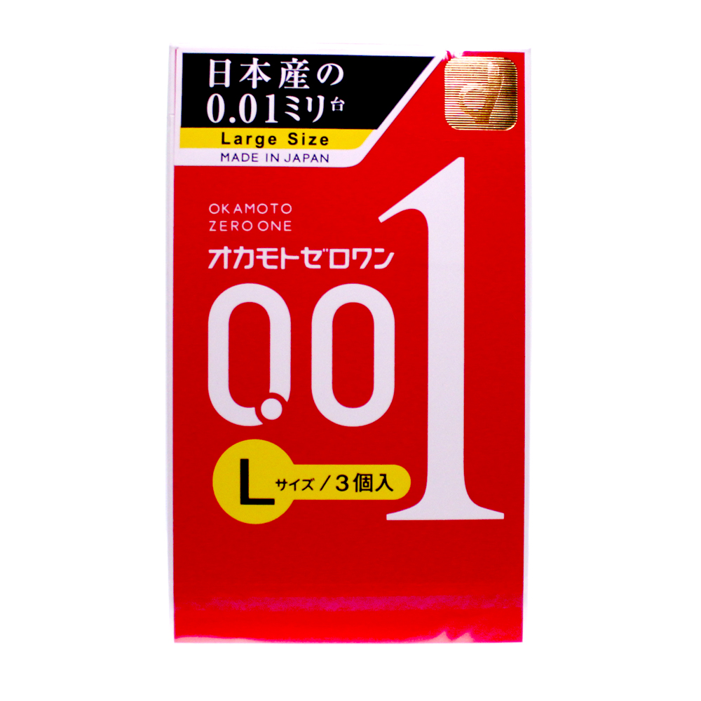 adult loving|Okamoto 0.01mm Zero One Large 3pcs