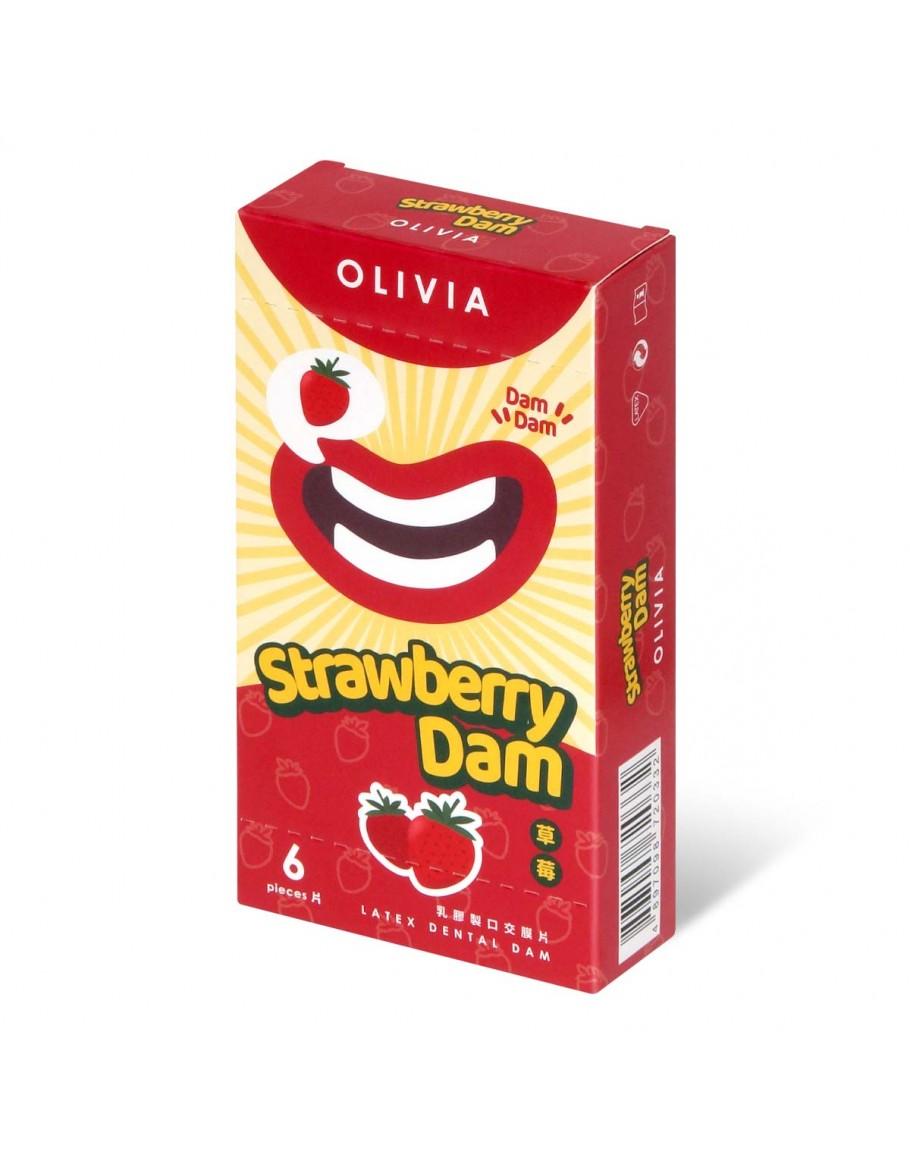 晴趣屋|奧莉維亞 草莓香味 6 片口交膜片