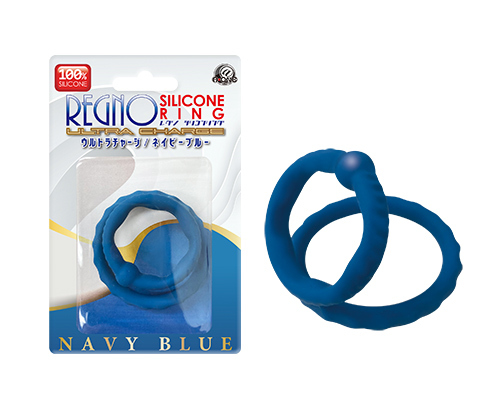 adult loving hk Regno Silicone Ring Ultra Charge Navy Blue