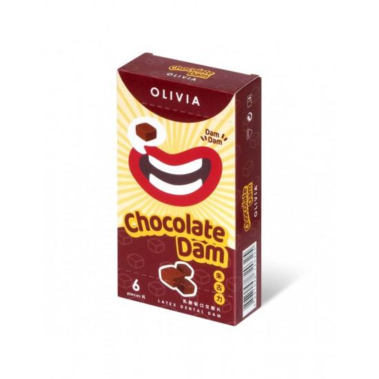 奧莉維亞 朱古力香味 6 片口交膜片