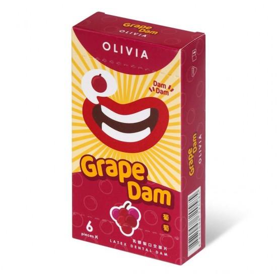 奧莉維亞 葡萄味 6 片口交膜片