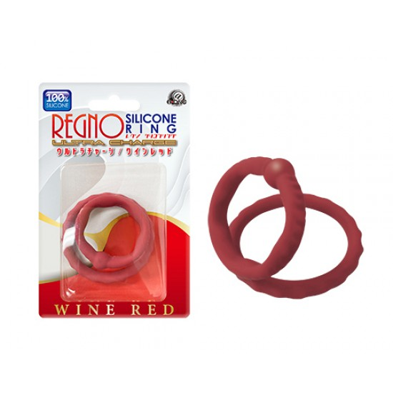 Regno Silicone Ring Wine Red