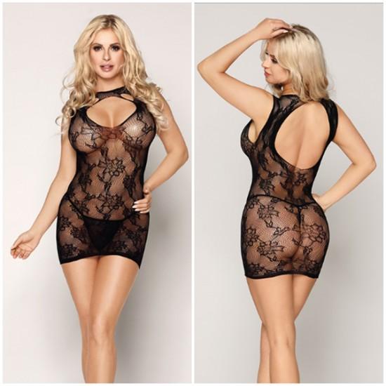 黑色性感短裙裝網衣7168