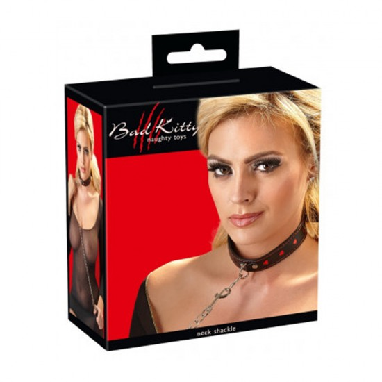 Bad Kitty Neck Shackle Collar and Leash