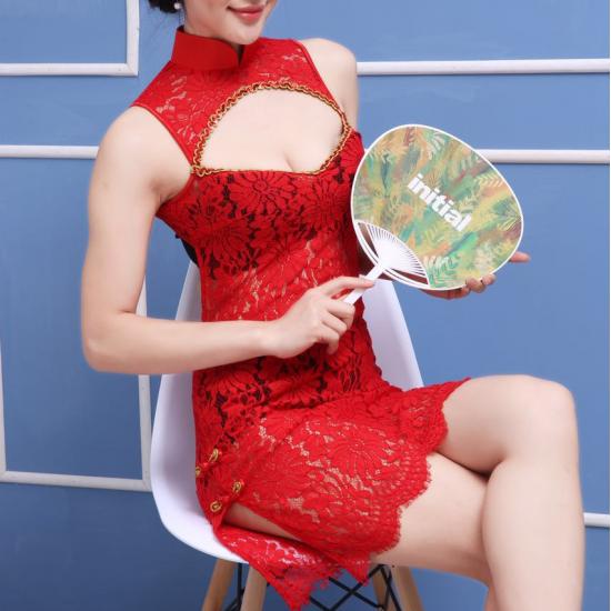 性感透明蕾絲古典旗袍