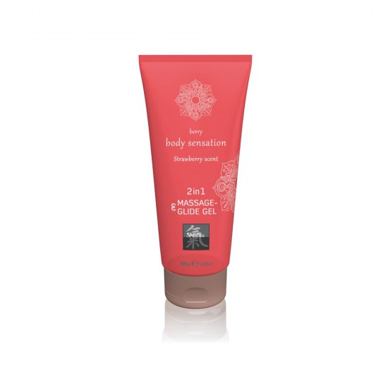 HOT Shiatsu 2 in 1 Massage and Glide Gel Strawberry