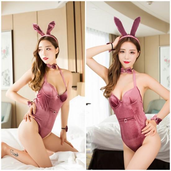 粉色性感誘惑兔女郎派對製服