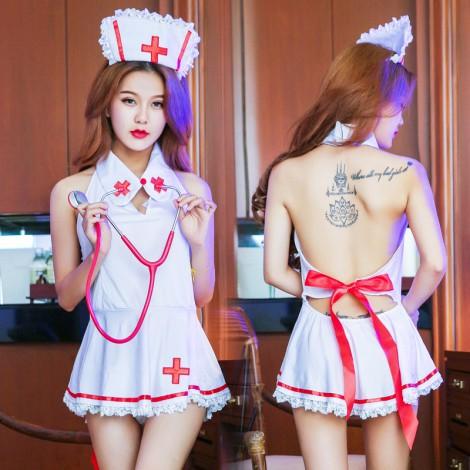 護士俱樂部惹火裸背情趣制服