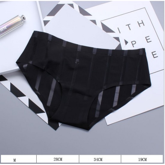 Sexy Silk Seamless Briefs Black