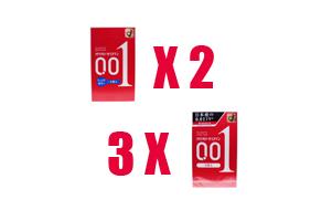日本版 岡本 0.01 水潤型兩盒 加 標準型 3盒